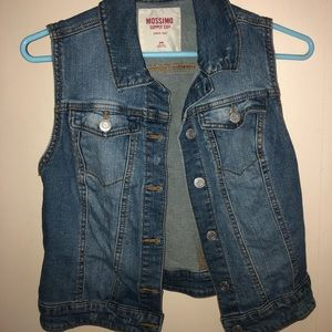 Sleeveless Jean Jacket